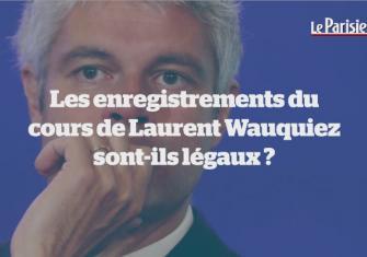 Le Parisien. Les enregistrements du cours de Laurent Wauquiez sont-ils légaux ?