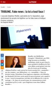 TRIBUNE Delphine Meillet. Fake news : la loi a tout faux !
