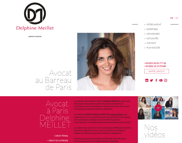 Site internet de Delphine Meillet, avocate au Barreau de Paris