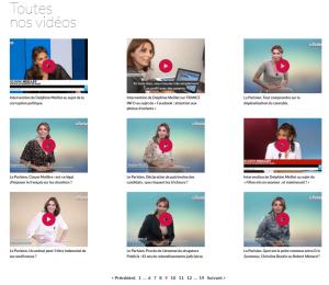 Exemples de vidéos informatives sur le site de Delphine Meillet