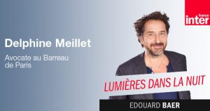Delphine Meillet répond aux questions d'Edouard Baer dans Lumières dans la Nuit